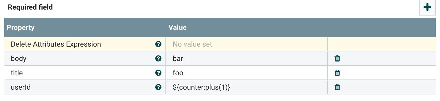 Nifi Invokehttp Parameters